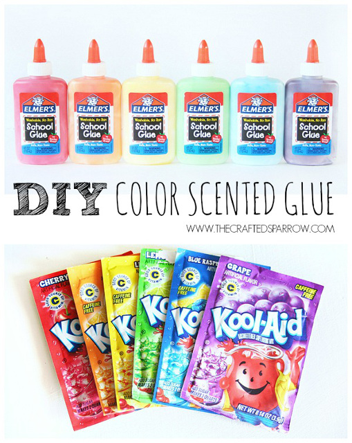 DIY Scented Colored Glue - Create fun creations with your kids!