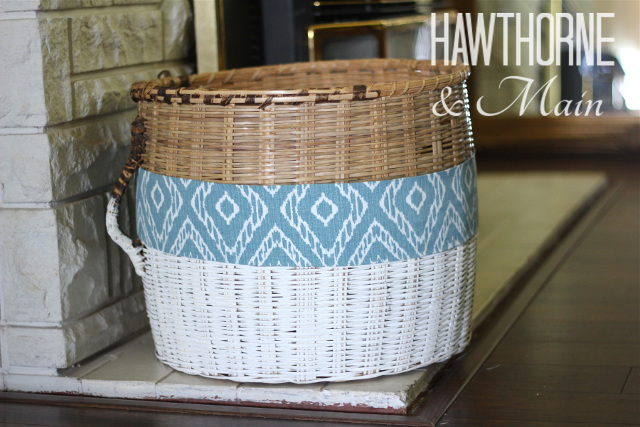 White Dipped Basket with a Twist