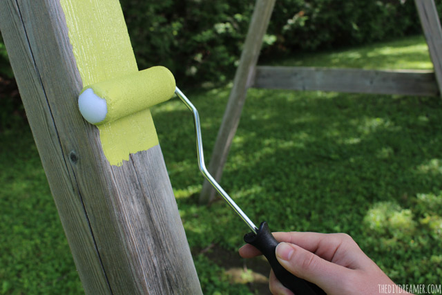 How to paint a wood swing set