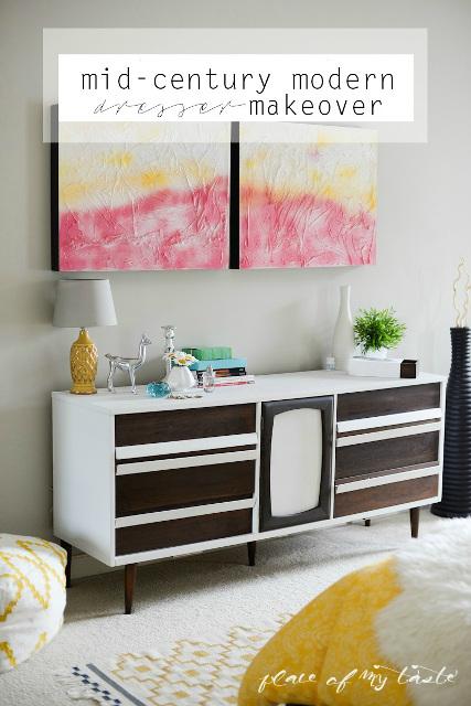 Mid-Century Modern Dresser Makeover - Bassett Dresser