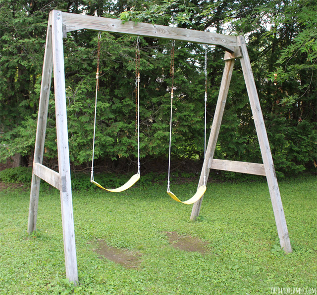 Old Wood Swing Set