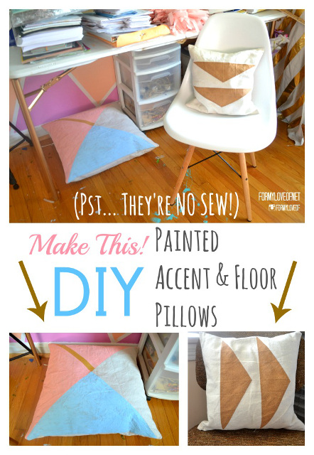 Accent Pillow Tutorial - Super Easy and no fancy tools!