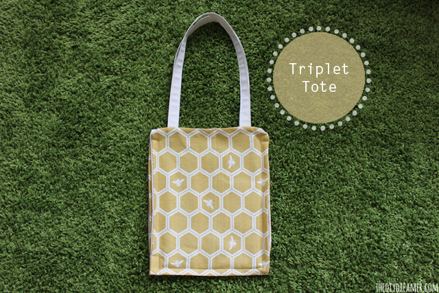 Triplet Tote - My very first sewing project! Perfect for beginners like me! Sewing 101
