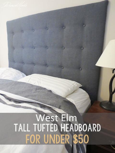 DIY West Elm Inspired Tall Tufted Headboard