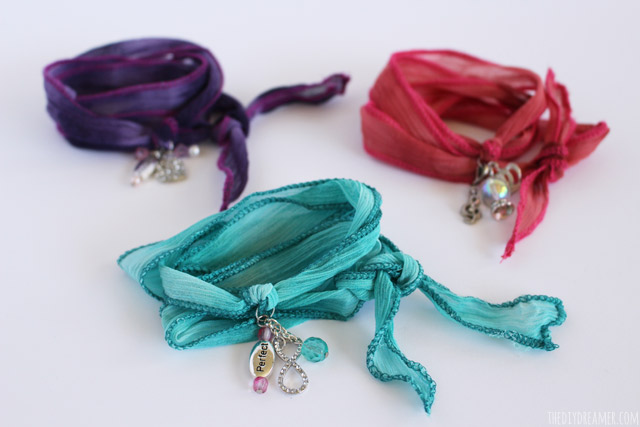 Silk Wrap Bracelets - Tutorial by Gabrielle (9 years old)
