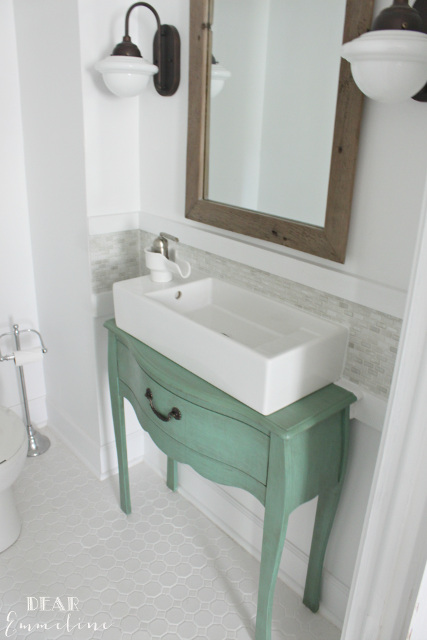 Narrow Half Bathroom Reveal - 1910 Home Renovation