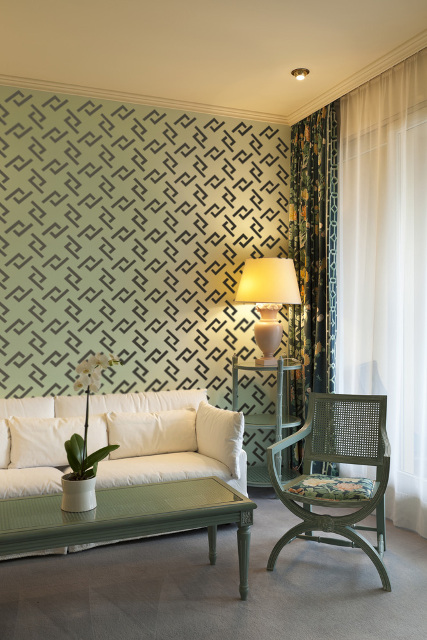 Chain Of Luck Wall Stencil for DIY project, Wallpaper look and easy Decor