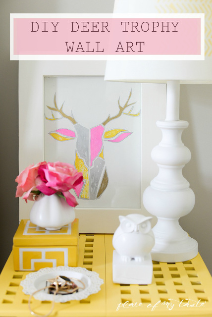 DIY Deer Trophy Wall Art West Elm Inspired
