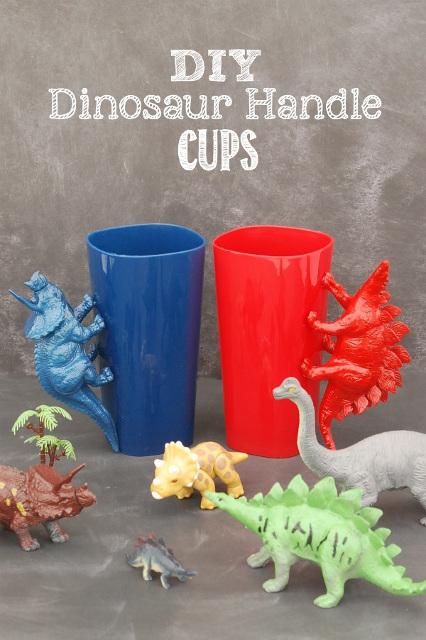 DIY Dinosaur Handle Cups