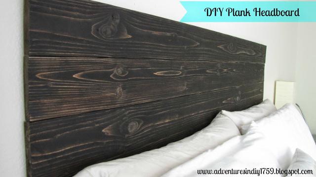 DIY Plank Headboard
