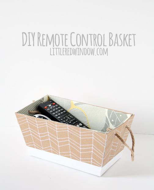 DIY Remote Control Basket
