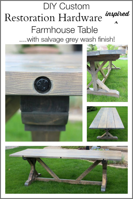 DIY Restoration Hardware Inspired Farmhouse Table