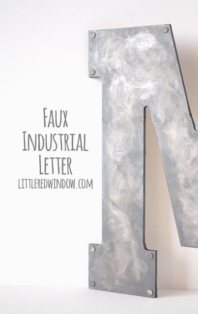 Faux Metal Industrial Monogram