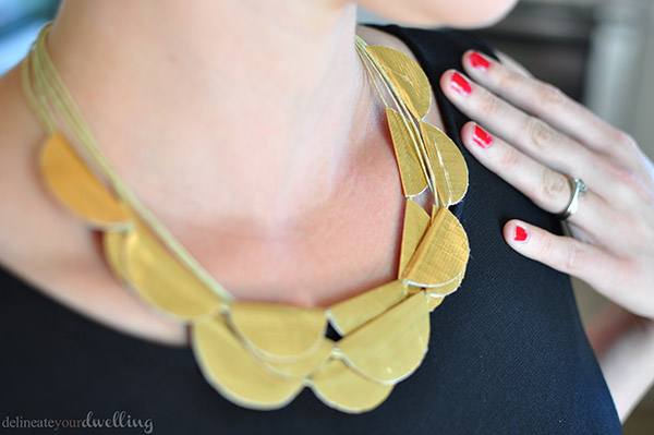 Gold Duck Tape Necklace