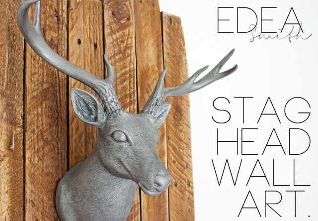 DIY Stag Head Wall Art