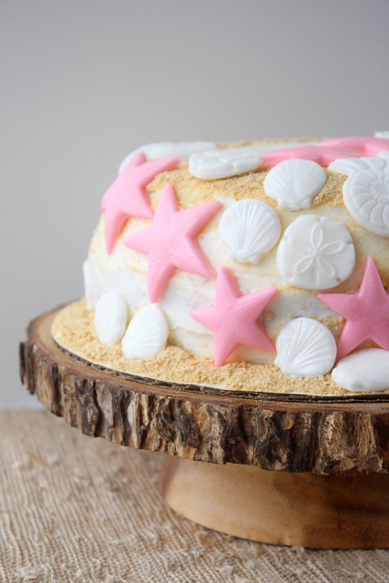 Summer S'mores Beach Cake