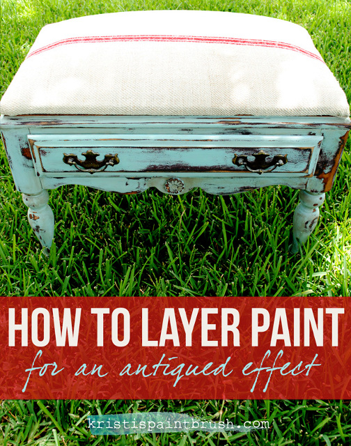 How to Layer Paint for an Antiqued Effect