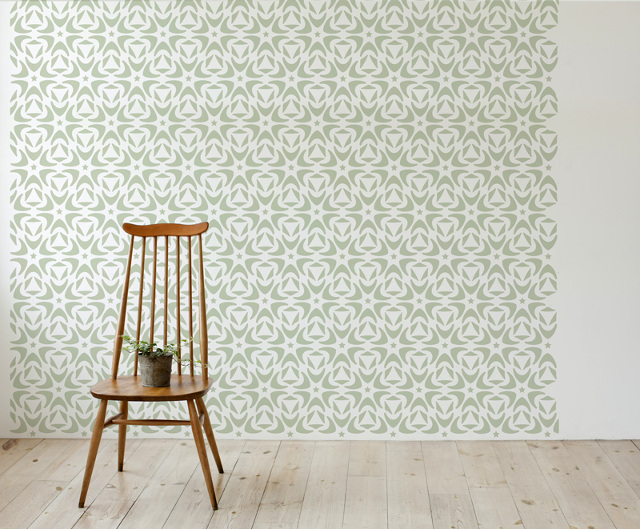 Scandinavian style wall stencils stencilit Scandinavian wallpaper and decor