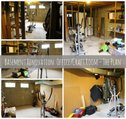 Basement Renovation: Office and Craft Room - The Plan