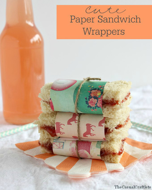 Paper Sandwich Wrappers - Back to school projects