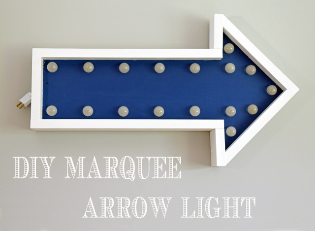 DIY Marquee Arrow Light