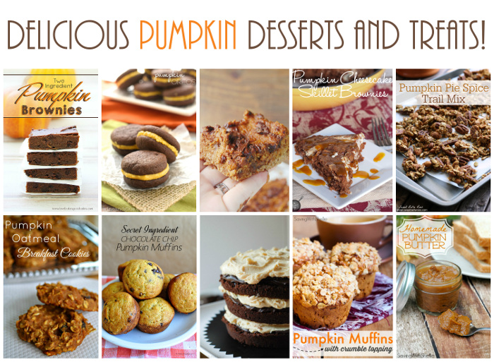 Absolutely delicious #Pumpkin Desserts and Treats that are certainly going to satisfy your pumpkin loving sweet tooth.