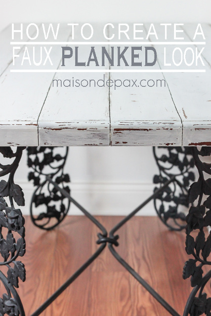How to create a DIY Faux Planked Desk