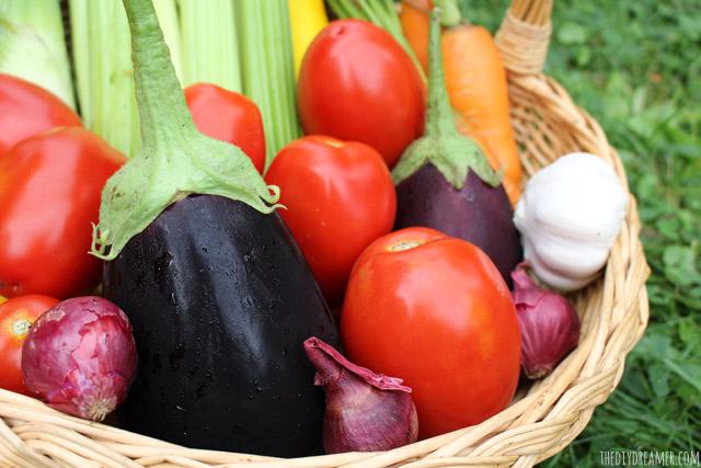 Garden Vegetables to make delicious Homemade Vegetable Soup!