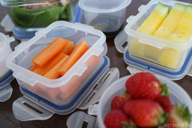 Staying healthy with a healthy school lunch.
