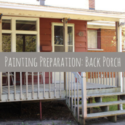 Painting Preparation: Back Porch #BEHRDIYEXPERT