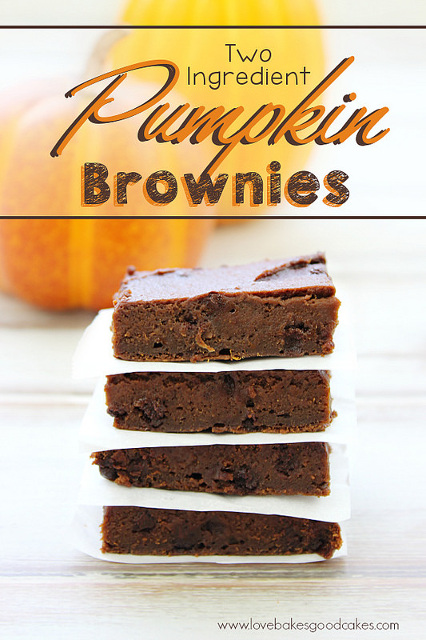 Pumpkin Brownies with only 2 ingredients!