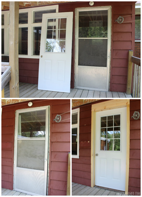 How to replace an old door