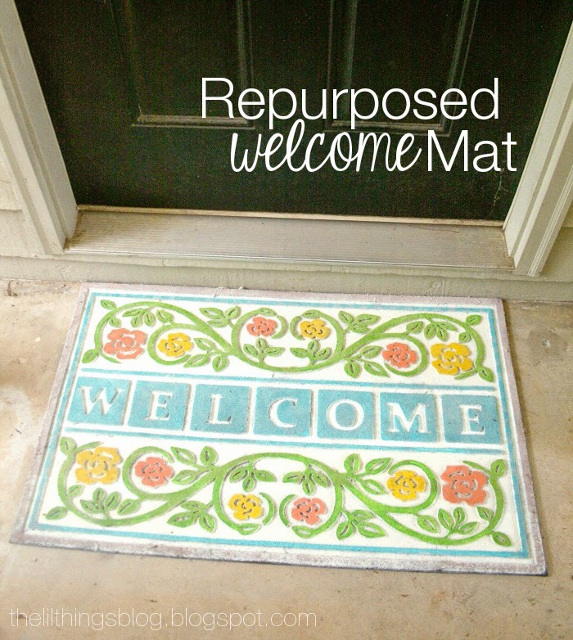 Repurposed Welcome Mat