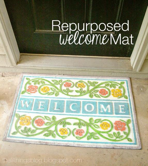 Repurposed Welcome Mat