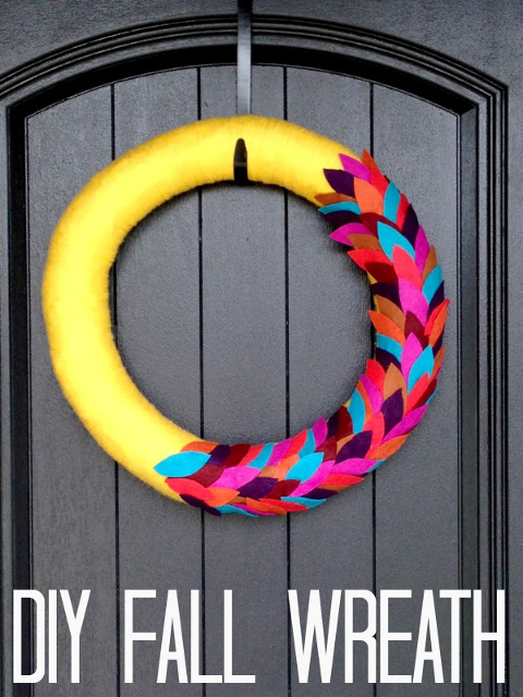 Bright Fall Yarn Wreath