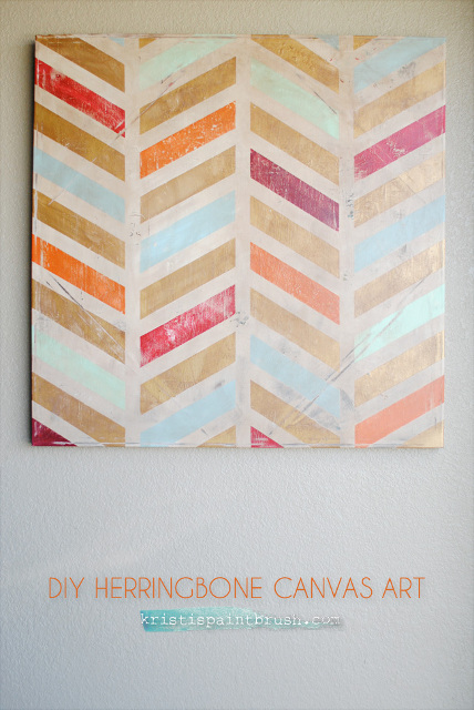 Herringbone Canvas Art: A Step-by-Step Tutorial