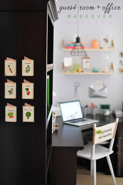 Beautiful Office Makeover - Full of DIY inspiration