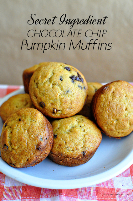 Pumpkin, Banana, and Chocolate Chip Muffins