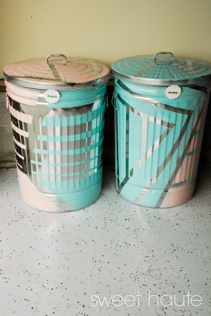Outdoor Organization: Recycle Bins - Garbage Cans - Trash Bins