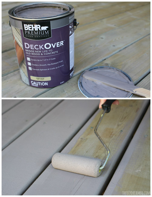 How to paint with BEHR PREMIUM DECKOVER.