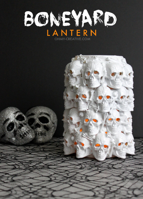 Boneyard Lantern - Unique DIY Halloween Decor