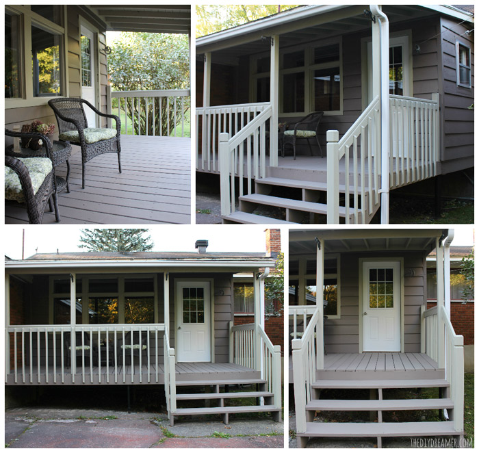 Beautiful Back Porch updated with fresh paint! Back Porch Makeover!