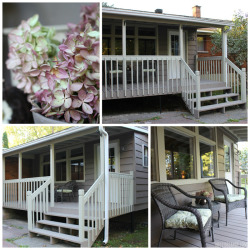 Beautiful Back Porch updated with fresh paint!