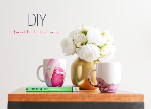 Marble Dipped Mug tutorial