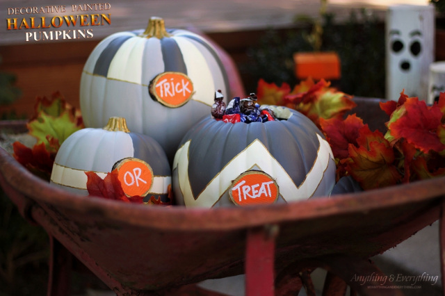Decorative Halloween Painted Pumpkins