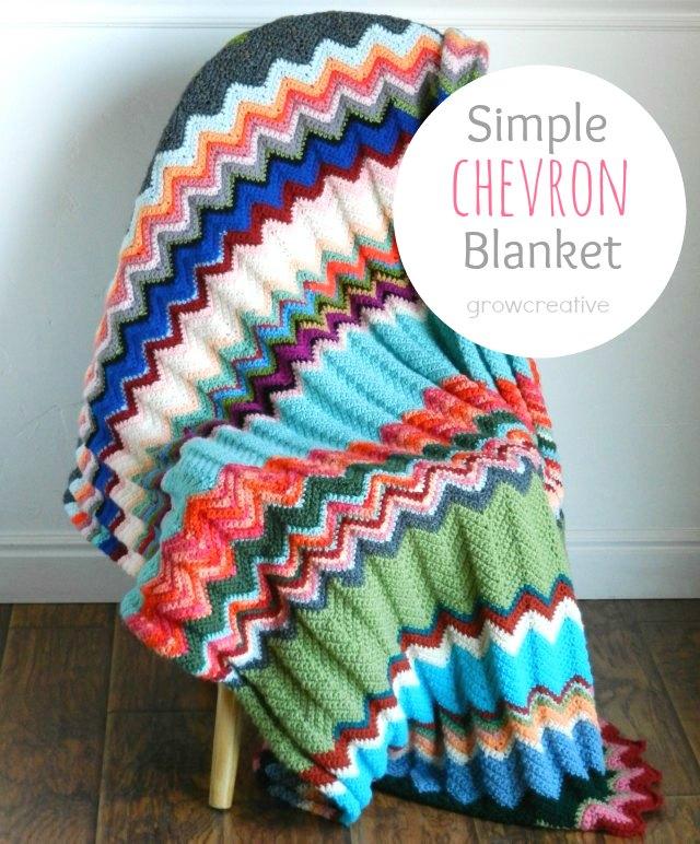 Free Crochet Pattern: Chevron Blanket - GORGEOUS Blanket!