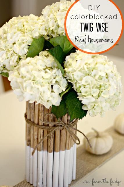 DIY Dipped Twig Vase