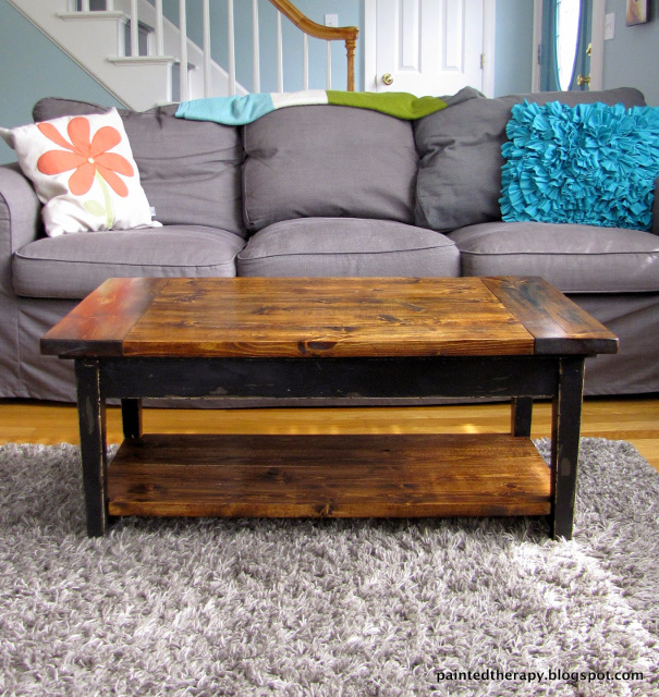 Piano Bench to Coffee Table - Beautiful transformation