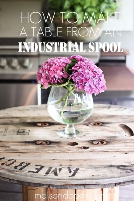 Awesome industrial spool table with instructions