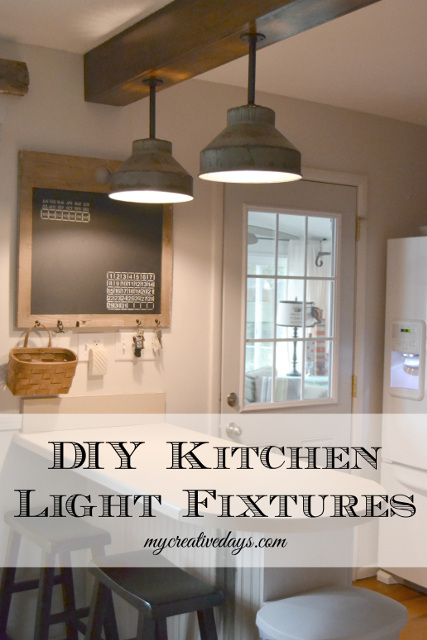 DIY Kitchen Light Fixtures